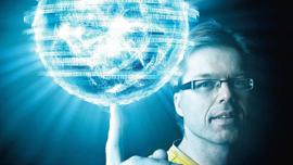 Gullgutt: Professor Arne Brataas har fått en god slump penger fra EUs forskningsråd for å forske på spinnende elektroner. Foto: Geir Mogen/NTNU Info (bildet er manipulert)